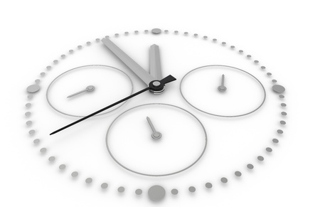 Time. Closeup on a Chronograph Watch photo