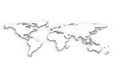 carte du monde: Carte. Une carte du monde en 3D Banque d'images