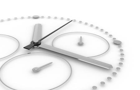 cronografo: Tiempo. Vista en perspectiva de un reloj cron�grafo   Foto de archivo