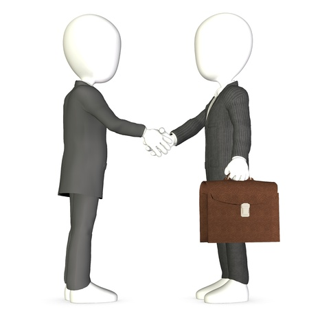Abstract business men shaking hands. Stock Photo - 9537468