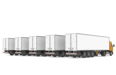 Fleet of Trucks, Rear view photo