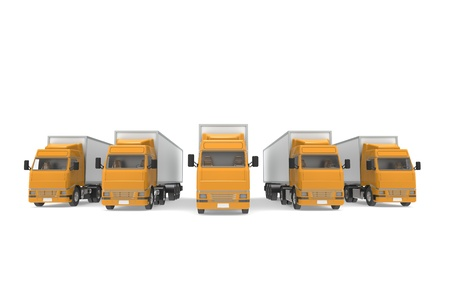 Perspective front view of Orange Trucks photo