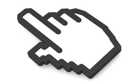 Hand icon 2011, Black isolated Stock Photo - 9614756