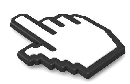 Hand icon 2011, Black isolated  photo
