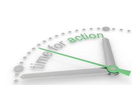 ontbering: Tijd voor actie, Eco Edition Stockfoto