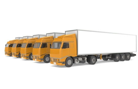 Fleet of Trucks, side view photo