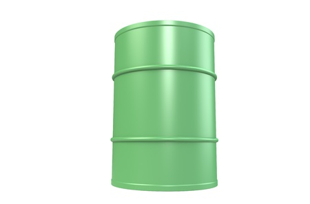 Oil Drum, Green Copy Space photo