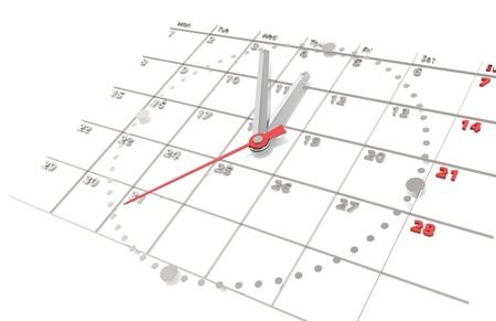cronogramas: Calendario y reloj. Edici�n de acero.