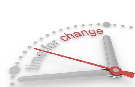 change concept: Tiempo para el cambio. Edici�n Roja y acero