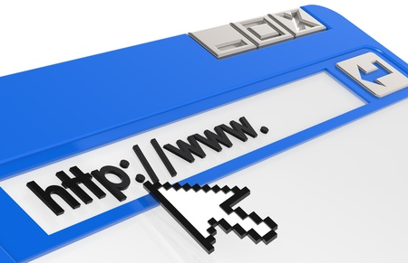 Internet Concept. Blue and Steel Browser Window Stock Photo - 9708229