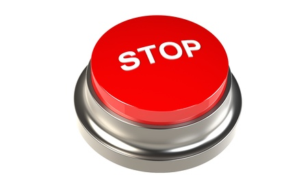 Button for Stop. Red Stop Button Stock Photo - 9708250