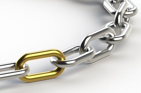 Chain with one Golden link photo
