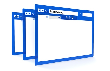 Blue and Transparent Browser windows Stock Photo - 9834077