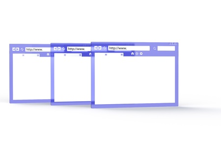HTTP. Abstract Blue and Transparent Browser windows Stock Photo - 9976620