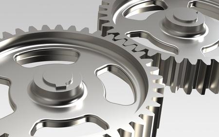 Close-up of Machine Gears Stock Photo