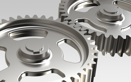 machine part: Close-up of Machine Gears Stock Photo