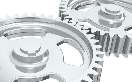 Machine Gears. Close-up of Machine Gears, Chrome. photo