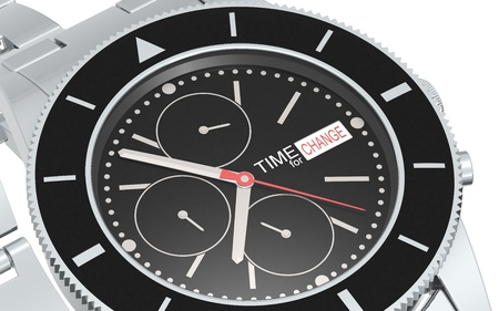 business change: A Chronograph Wrist watch. Branded Time For Change