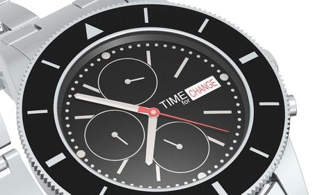 cronografo: Un reloj cron�grafo. Marca de tiempo para el cambio