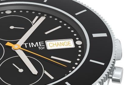 managed: Close up of a Chronograph Wrist watch. Orange Stock Photo