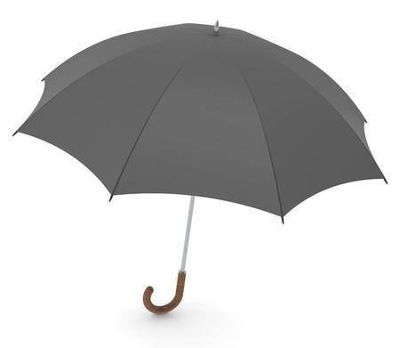Black vintage style umbrella. White background Stock Photo - 10134136
