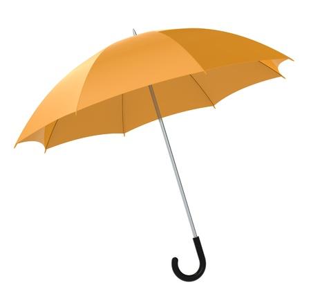 Orange Umbrella on white background. Isolated Stock Photo - 10134131