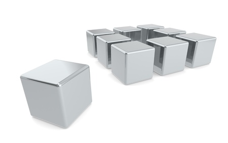 Think outside the box. Metal edition Stock Photo - 10226806