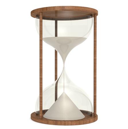 sand watch: Hourglass made of wood. Mahogany