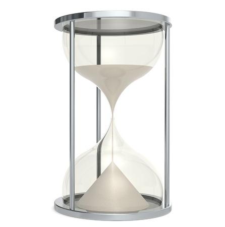 Hourglass made of Metal. Sand