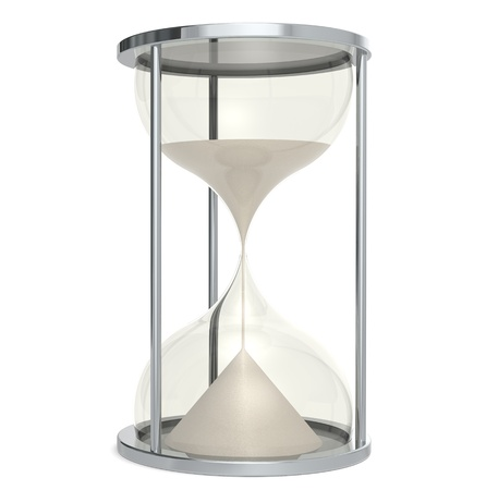 sands of time: Hourglass made of Metal. Sand