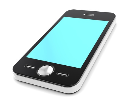 illuminative: Smart Phone with high Illuminative Blue Screen.