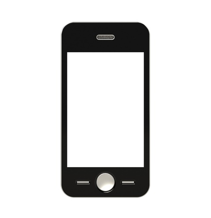 Mobile Phone with blank Screen for Copy Space. Isolated Stock Photo - 10345586