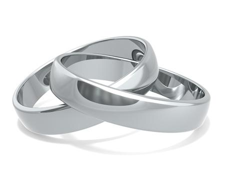 anniversario di matrimonio: Fedi nuziali di Platinum x 2