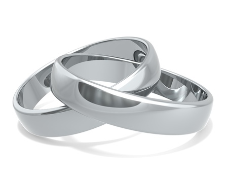 Wedding rings of Platinum x 2