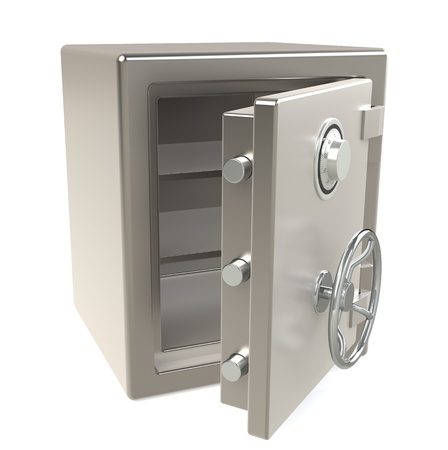 An open Safe with Combination lock photo
