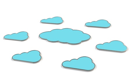 Abstract clouds x7. Cloud Computing. Stock Photo - 10999662