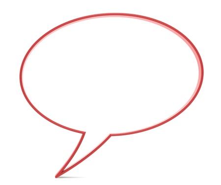 speech bubble: Bulle, rouge. Une partie de la s�rie de personnes.