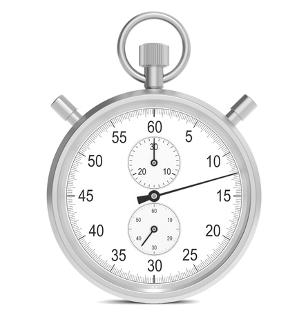 Stopwatch. Classic stopwatch with 3 dials and Black hands. photo