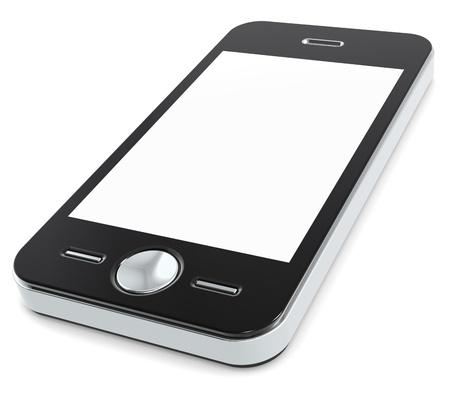 phone button: Mobiele telefoon met lege scherm voor Copy Space.