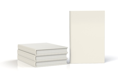 hardcovers: White Books for Copy Space
