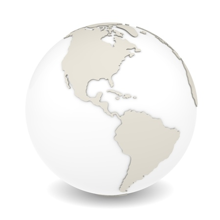 The Earth rotation view 3  The Earth on white background  Sparse design  Stock Photo - 12703335