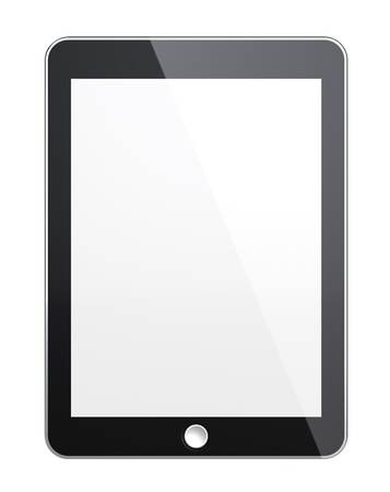 Tablet pad with blank Screen for Copy Space Isolated