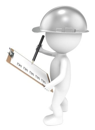inventario: 3D carácter humano poco el Generador de la celebración de una Junta de imágenes y un Lápiz de Acero retro serie de personas