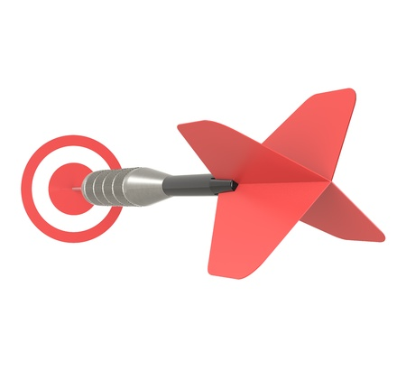 intention: Business Success Concept  Red Dart Arrow, isolated on white  Stock Photo