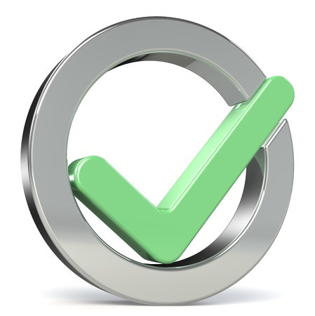 Circle shape Check mark, green photo
