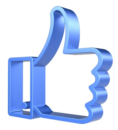 Like Symbol on white background  3d Render, isolated Stock Photo - 12703907