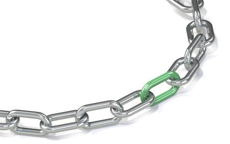 Chain with red link  Hard Floor Shadow  photo