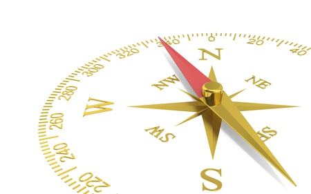 Abstract Perspective view of a compass dial  Brass  photo