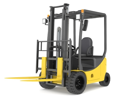 Forklift Truck on white background  Warehouse and logistics series  photo