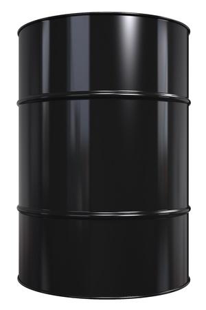 tambor: Tambor de aceite Classic Negro Aislado en blanco